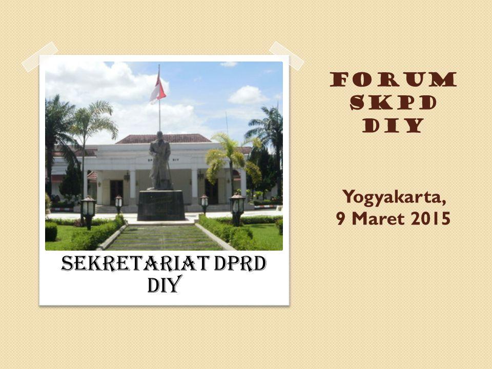 FORUM SKPD DIY Yogyakarta, 9 Maret 2015