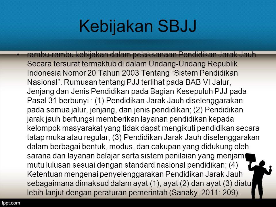 Kebijakan SBJJ