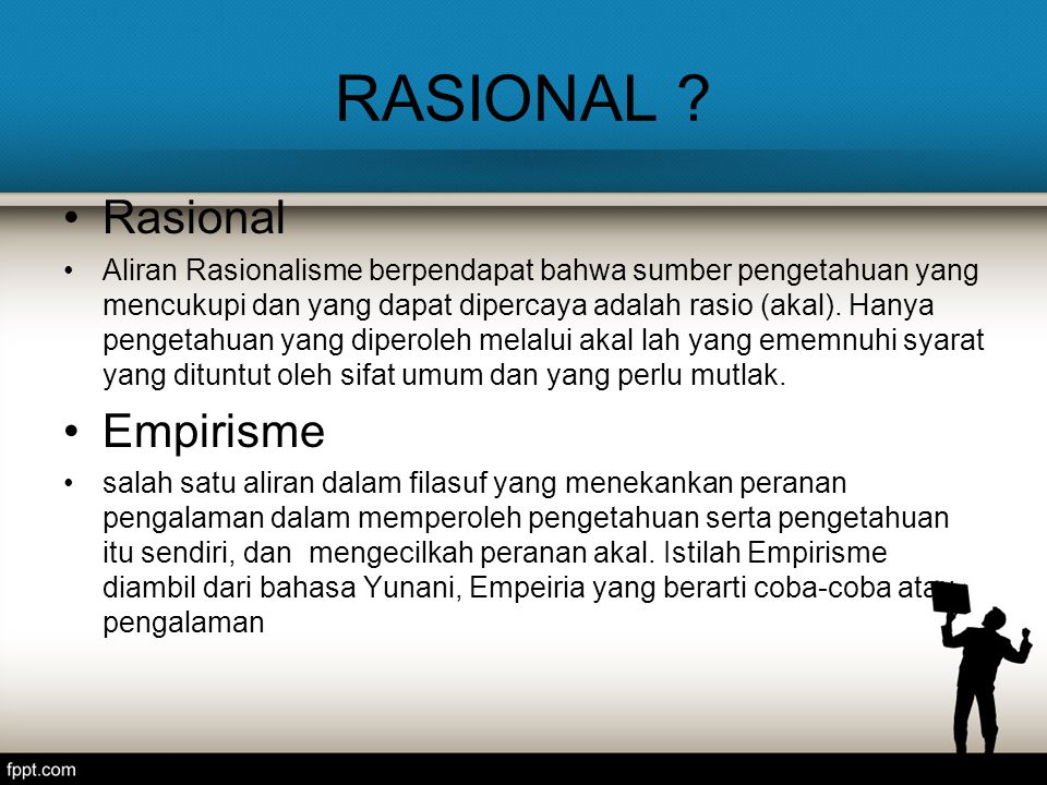 RASIONAL Rasional Empirisme