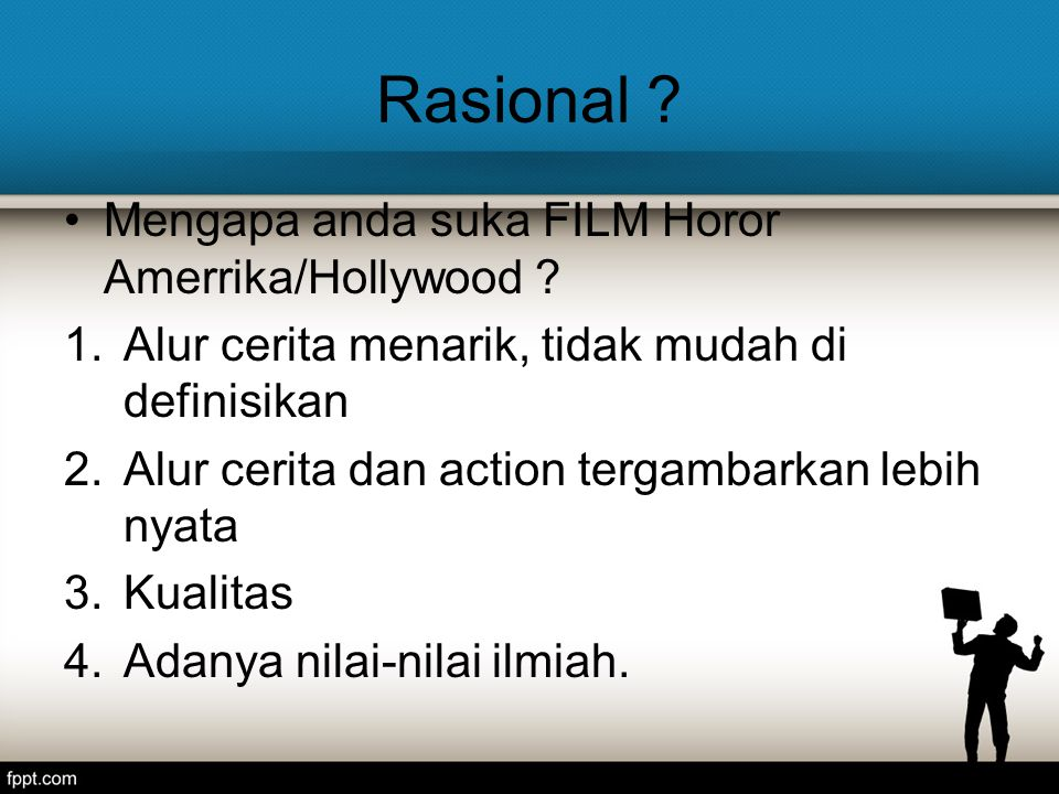 Rasional Mengapa anda suka FILM Horor Amerrika/Hollywood