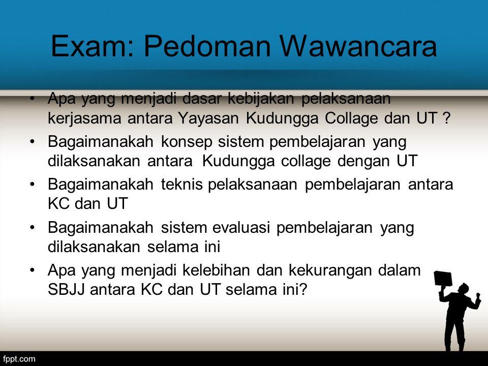 Exam: Pedoman Wawancara