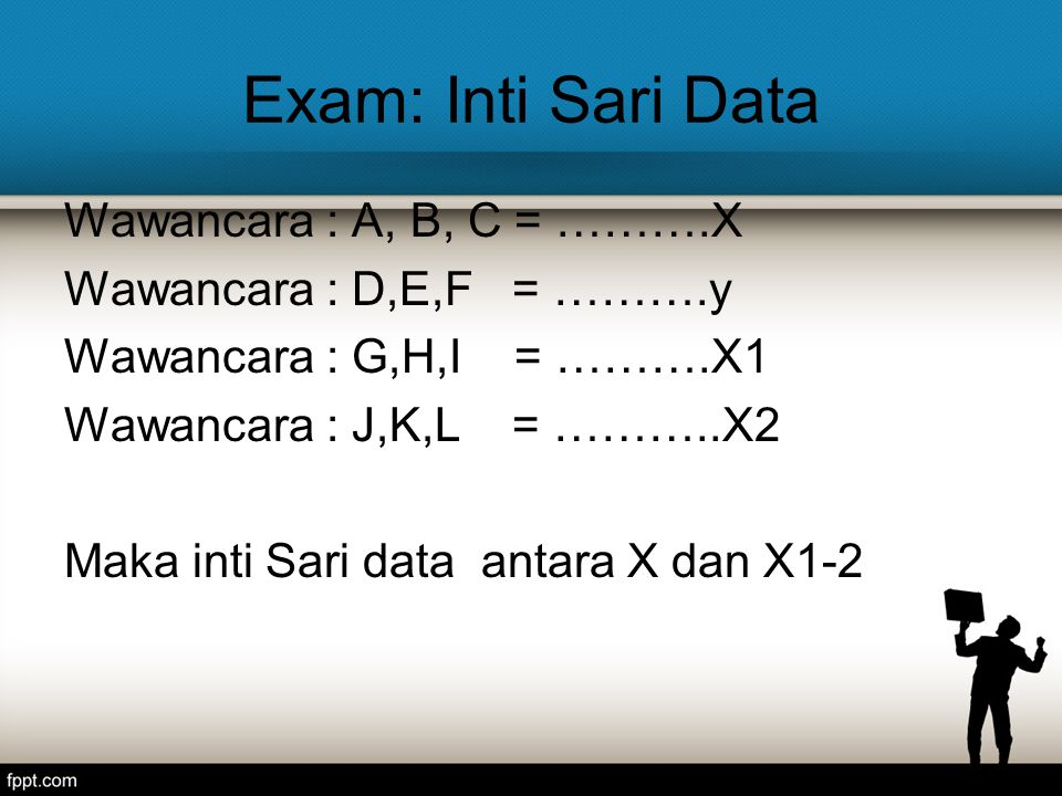 Exam: Inti Sari Data