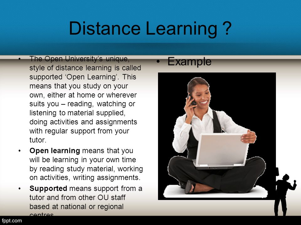 Distance Learning Example