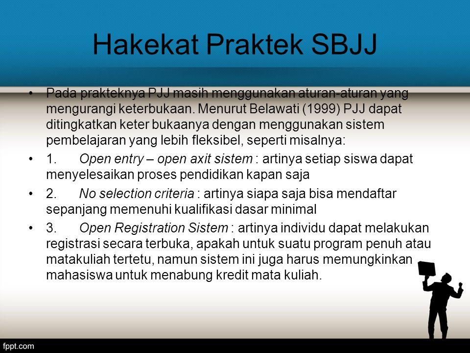 Hakekat Praktek SBJJ