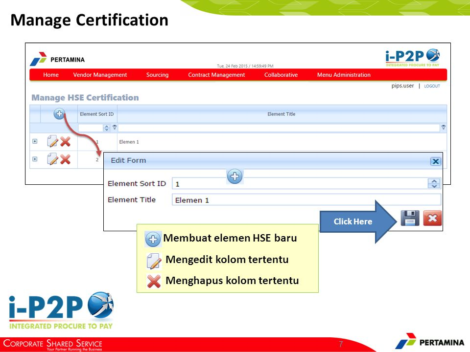 Manage Certification Isi field – field pada edit Form