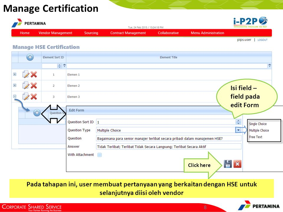 Manage Certification Click here.