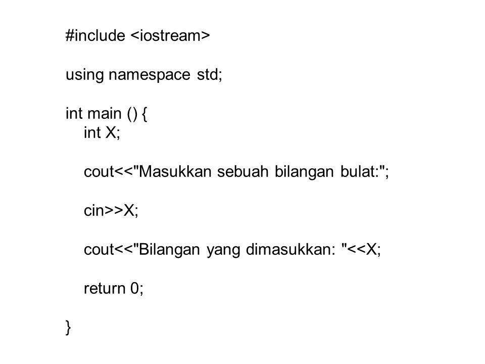 #include <iostream>
