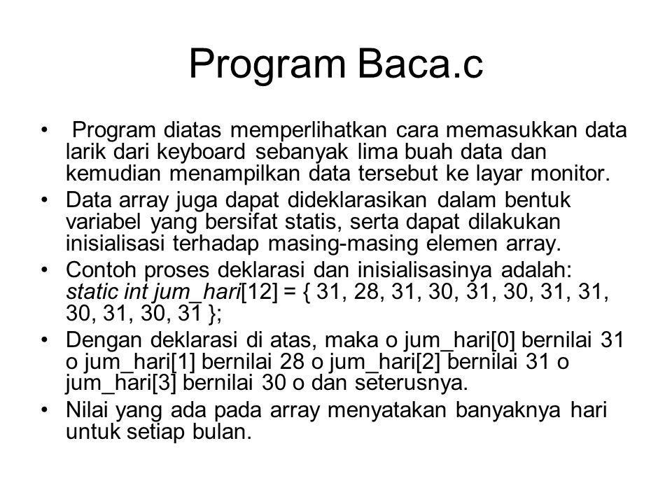 Program Baca.c