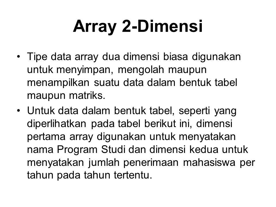 Array 2-Dimensi