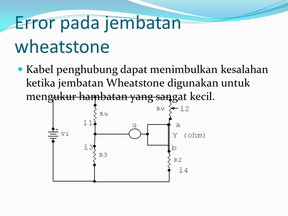 Error pada jembatan wheatstone