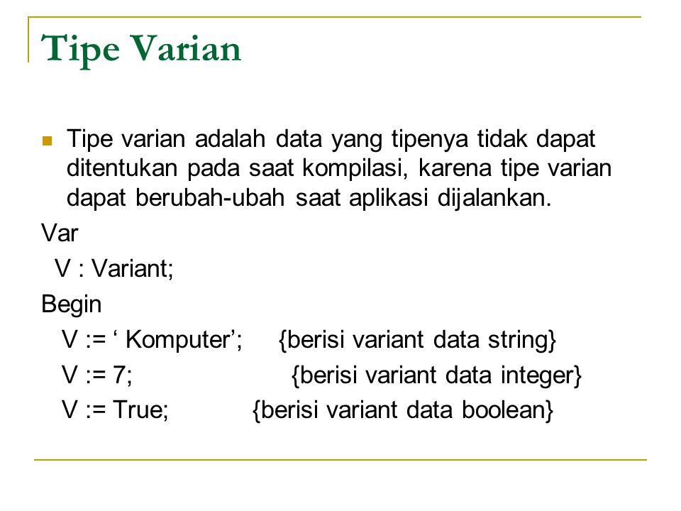 Tipe Varian