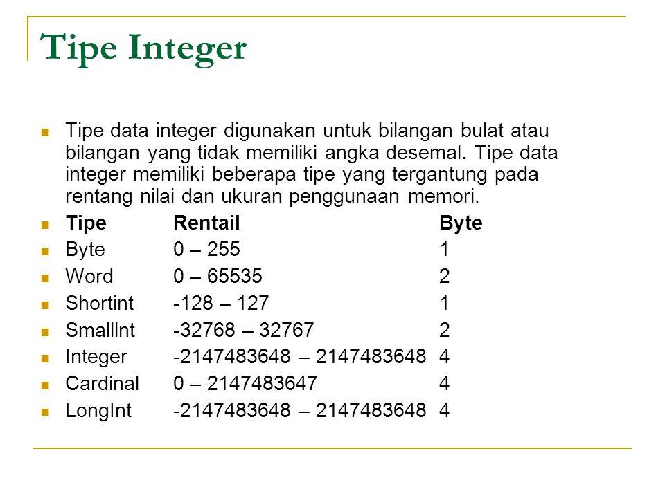 Tipe Integer