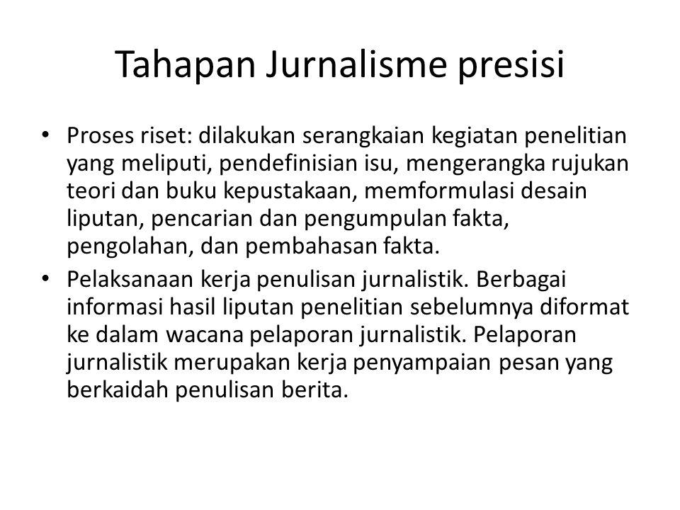 Tahapan Jurnalisme presisi