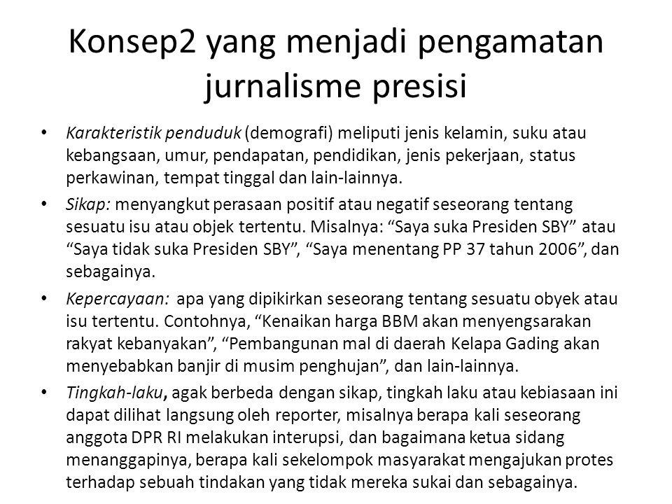 Konsep2 yang menjadi pengamatan jurnalisme presisi