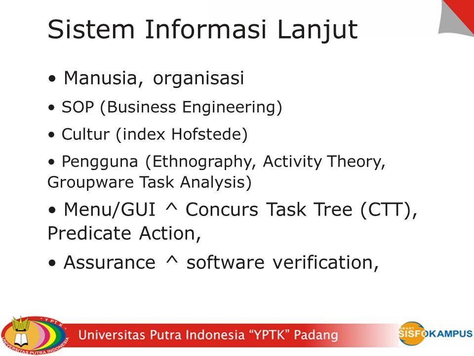 Sistem Informasi Lanjut