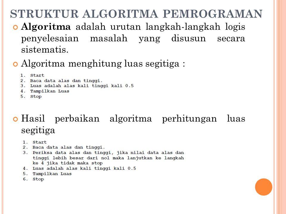 STRUKTUR ALGORITMA PEMROGRAMAN