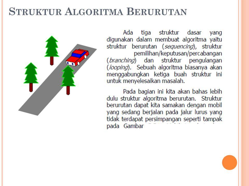 Struktur Algoritma Berurutan