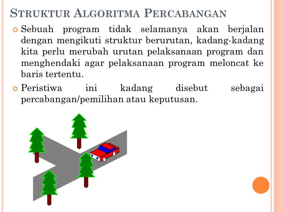 Struktur Algoritma Percabangan