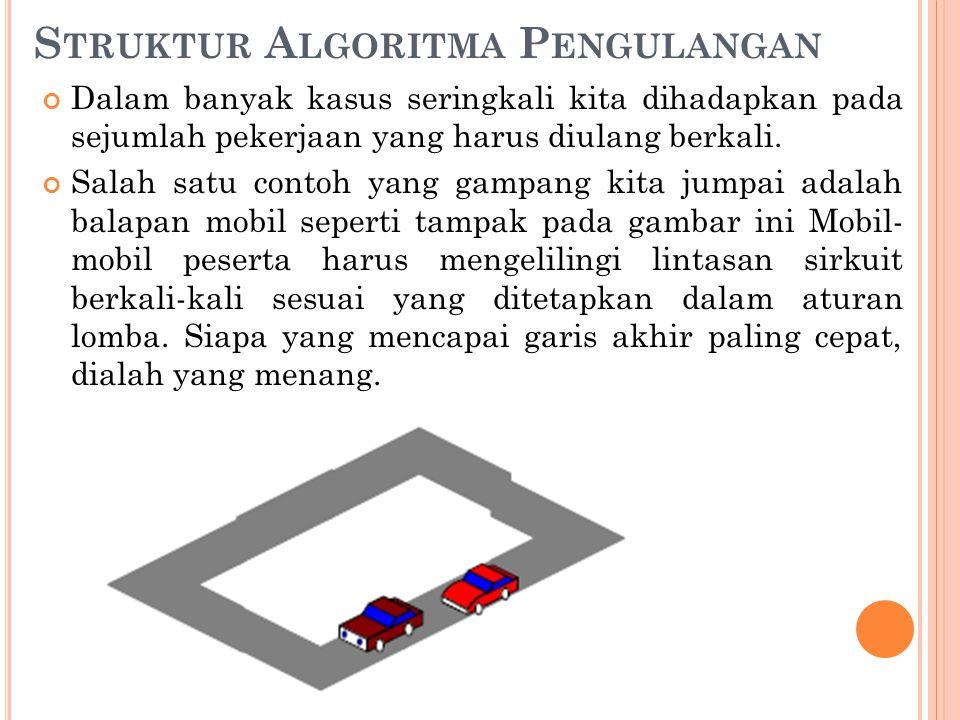 Struktur Algoritma Pengulangan
