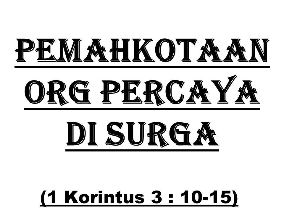 PEMahkotaan org percaya di SURGA