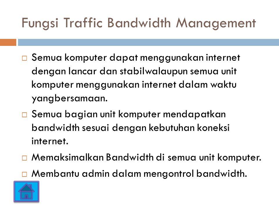 Fungsi Traffic Bandwidth Management