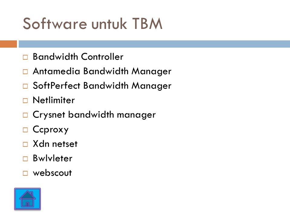 Software untuk TBM Bandwidth Controller Antamedia Bandwidth Manager