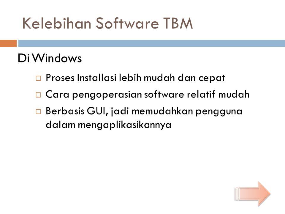 Kelebihan Software TBM