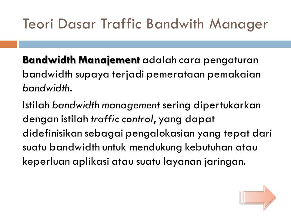 Teori Dasar Traffic Bandwith Manager