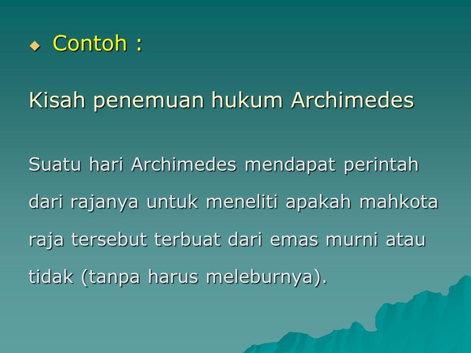 Kisah penemuan hukum Archimedes