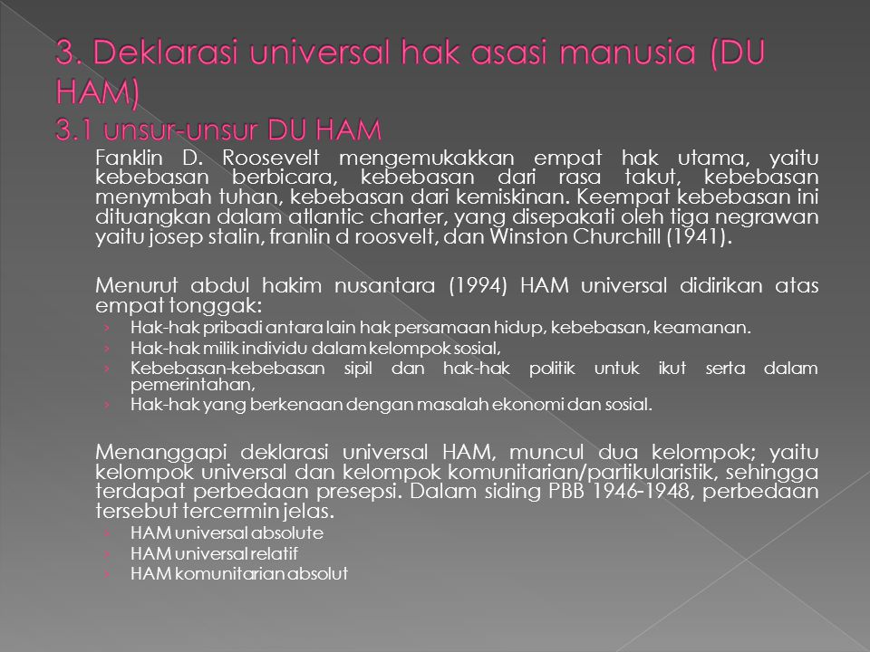 3. Deklarasi universal hak asasi manusia (DU HAM) 3