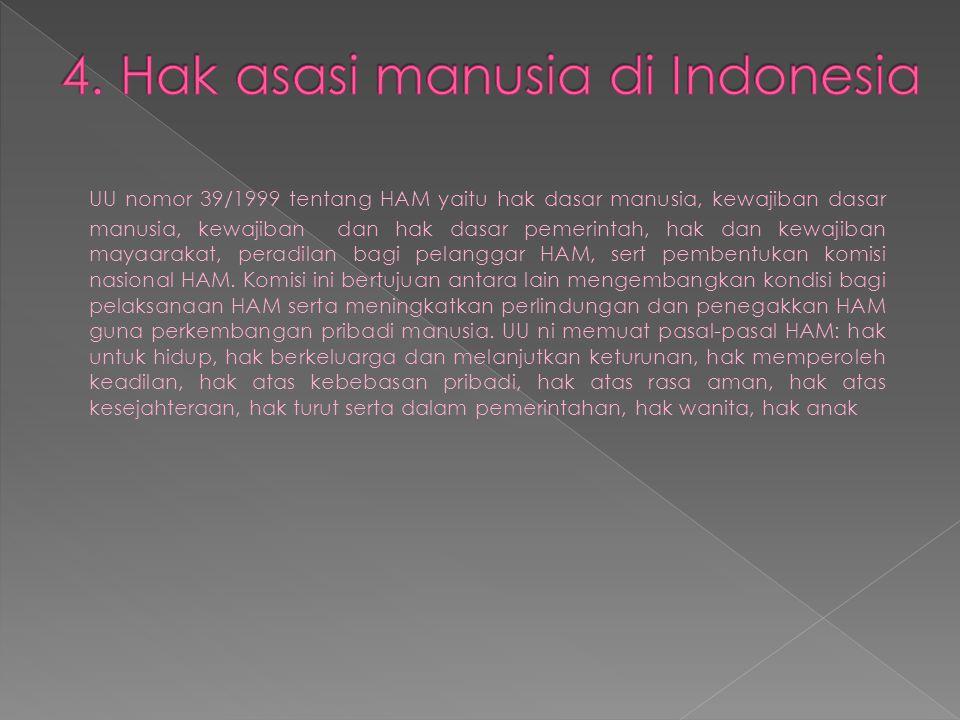 4. Hak asasi manusia di Indonesia