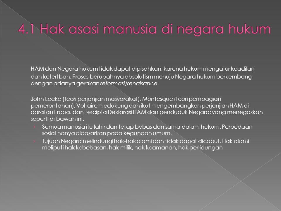 4.1 Hak asasi manusia di negara hukum