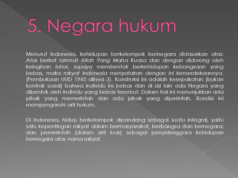 5. Negara hukum