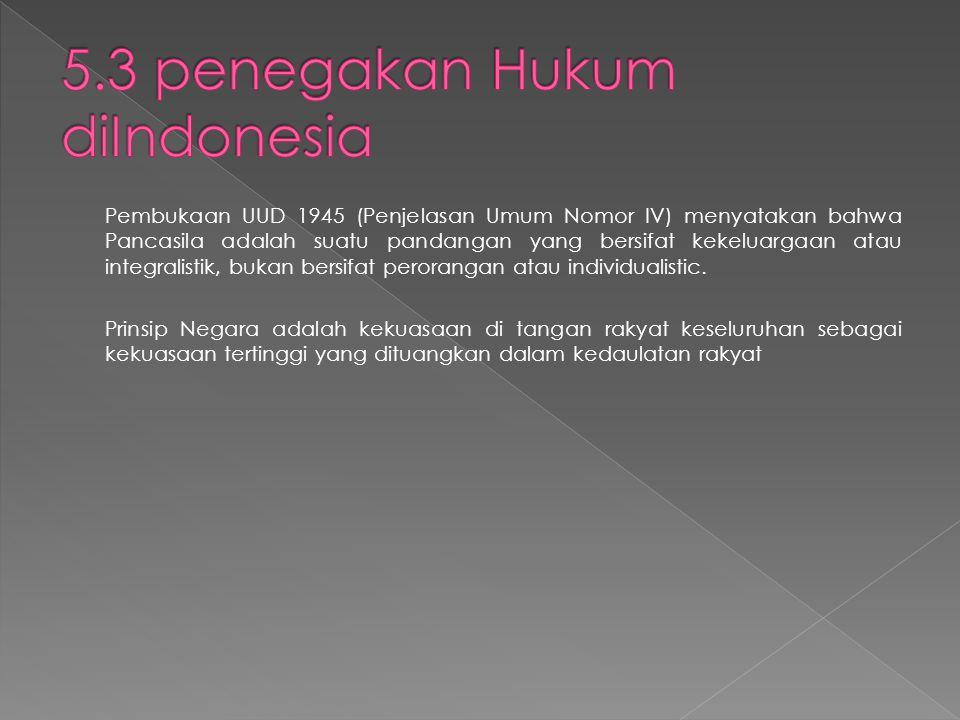 5.3 penegakan Hukum diIndonesia