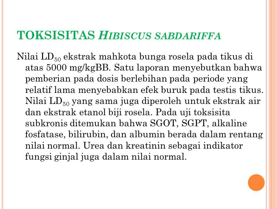 TOKSISITAS Hibiscus sabdariffa