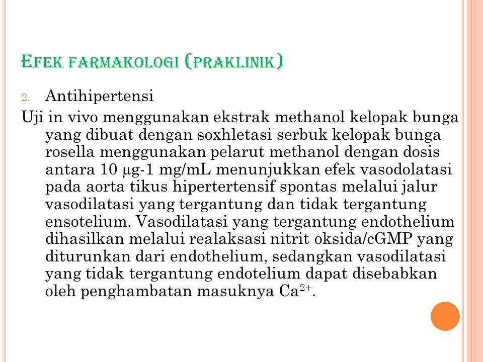 Efek farmakologi (praklinik)