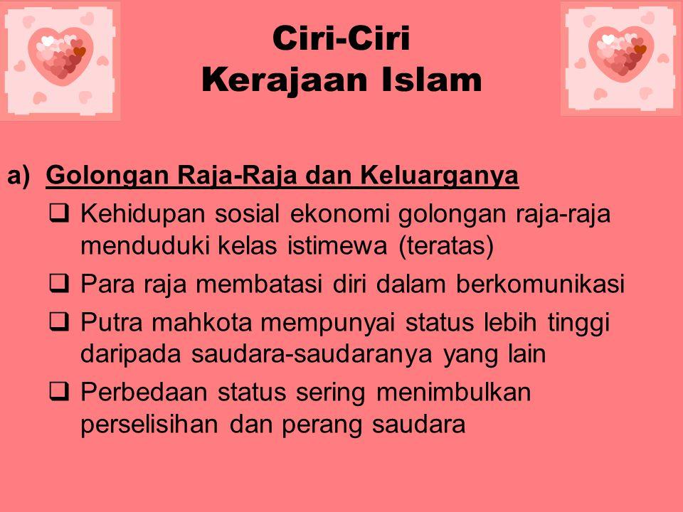 Ciri-Ciri Kerajaan Islam