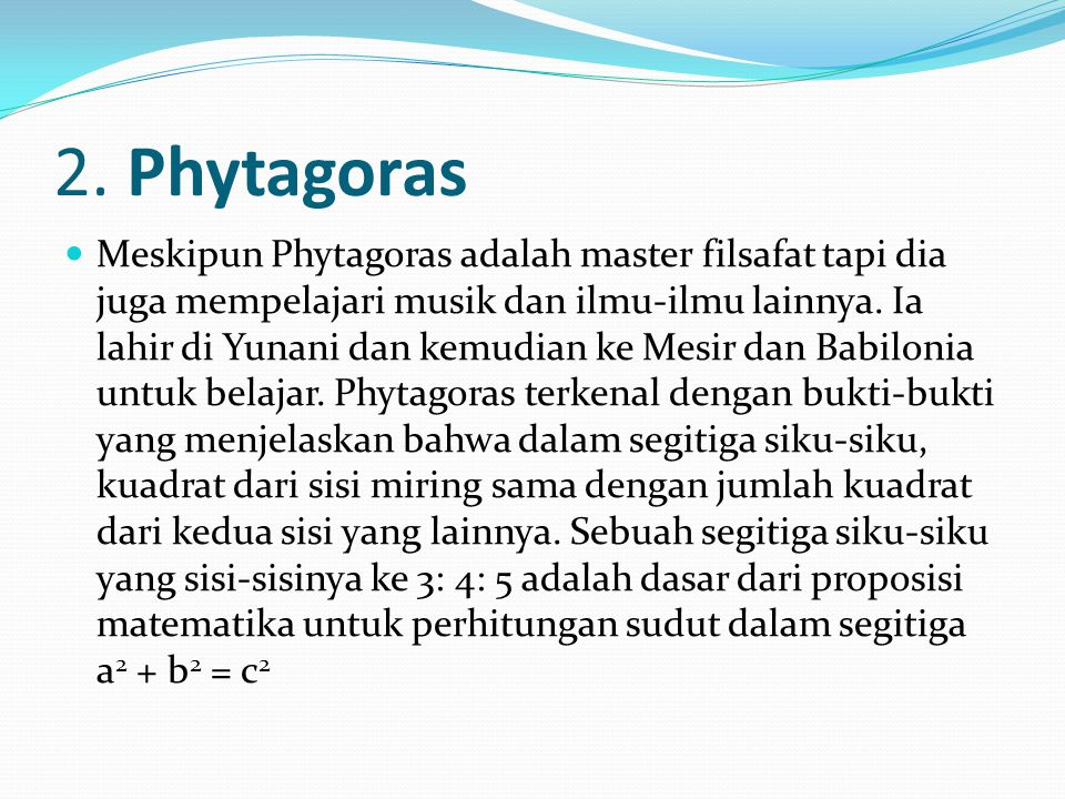 2. Phytagoras