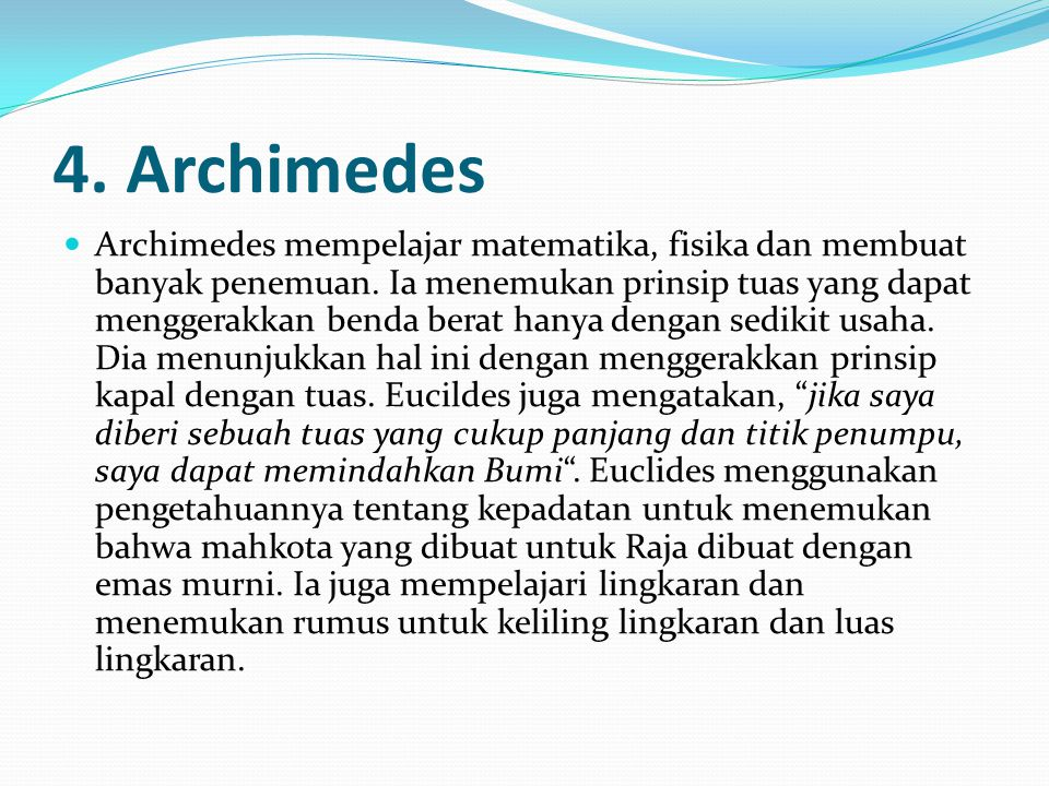 4. Archimedes