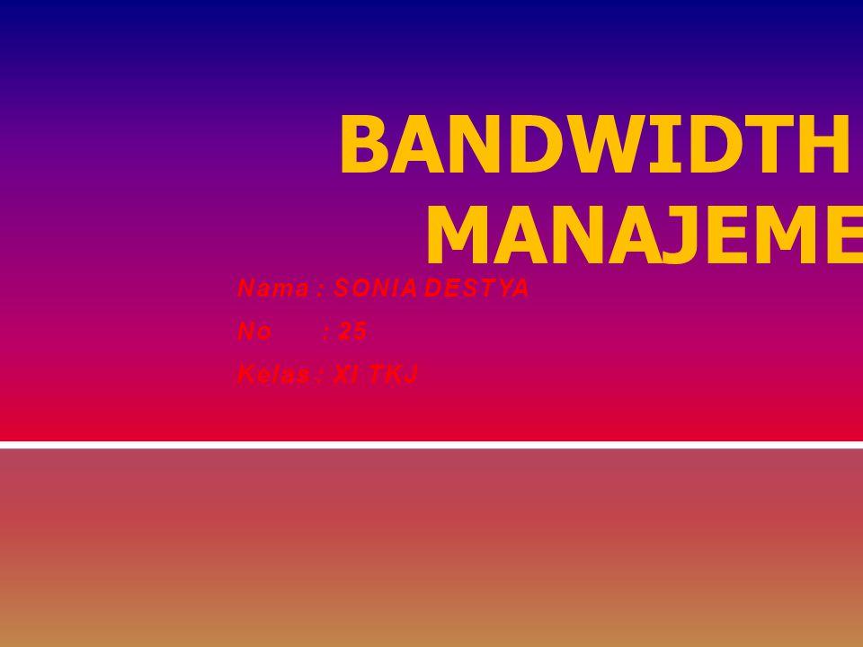 TRAFFIC DAN BANDWIDTH MANAJEMEN