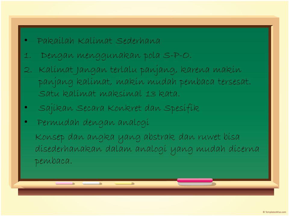Pakailah Kalimat Sederhana