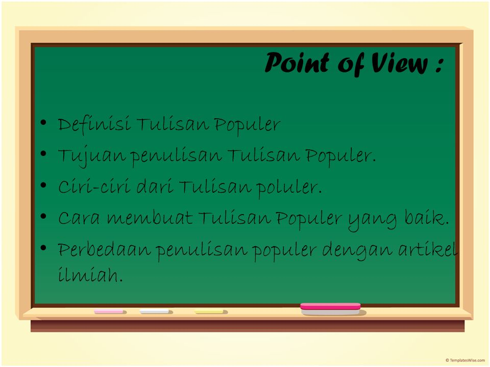 Point of View : Definisi Tulisan Populer