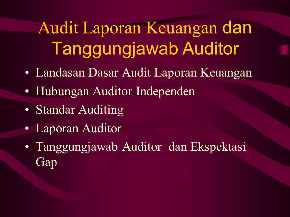 Audit Laporan Keuangan dan Tanggungjawab Auditor