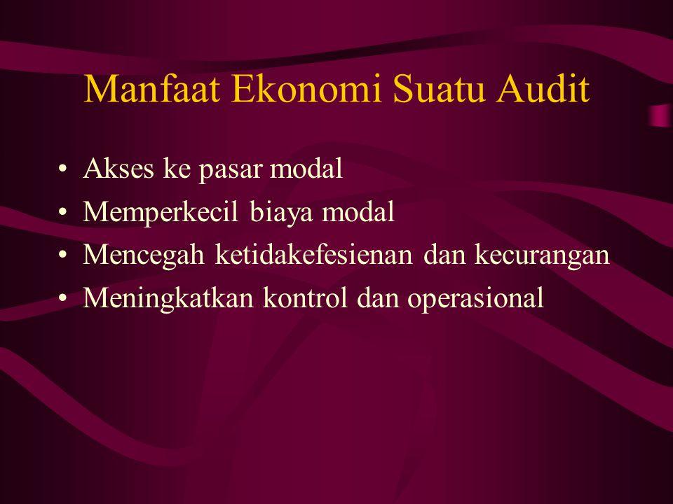 Manfaat Ekonomi Suatu Audit
