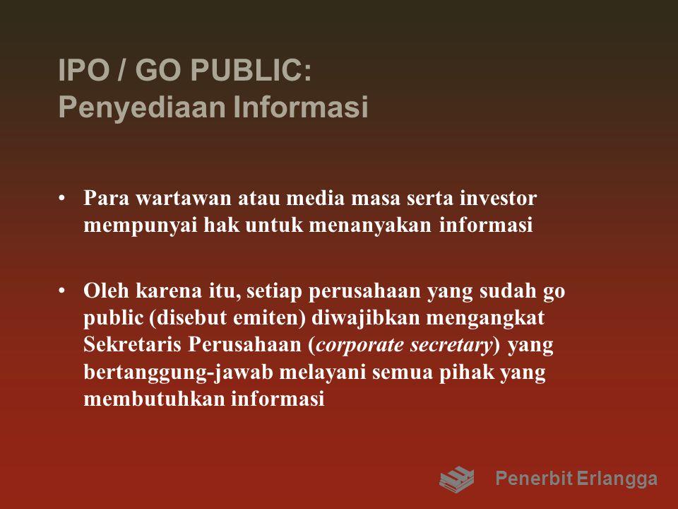 IPO / GO PUBLIC: Penyediaan Informasi