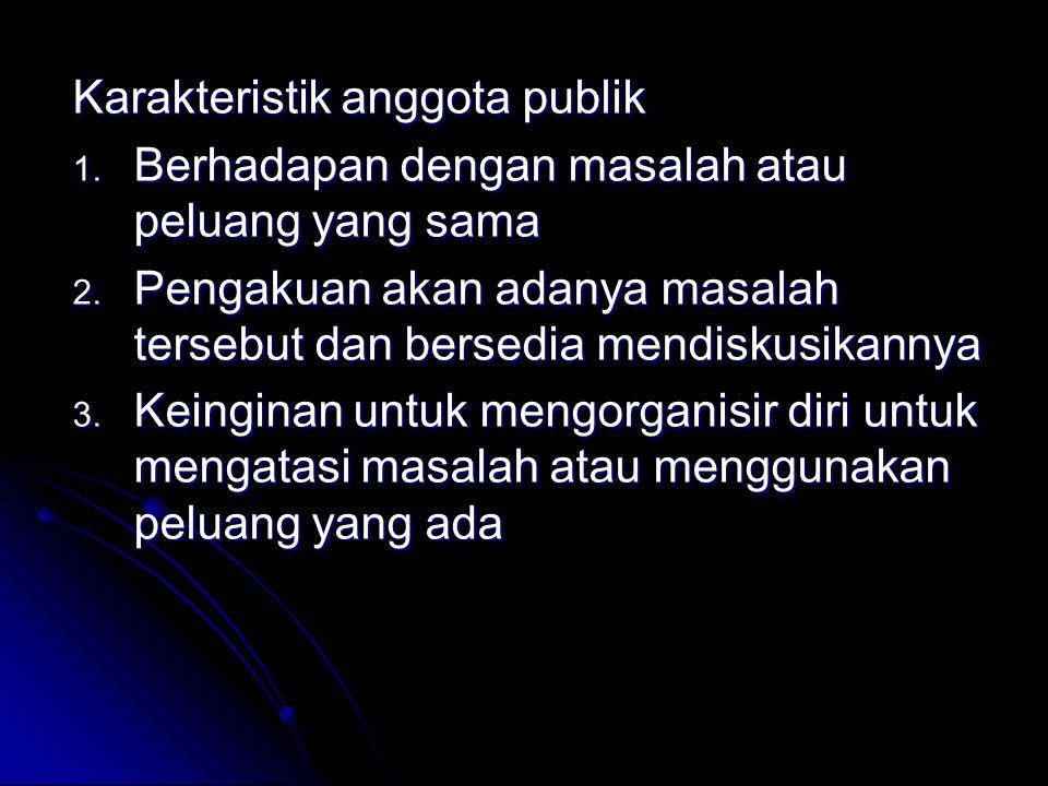 Karakteristik anggota publik