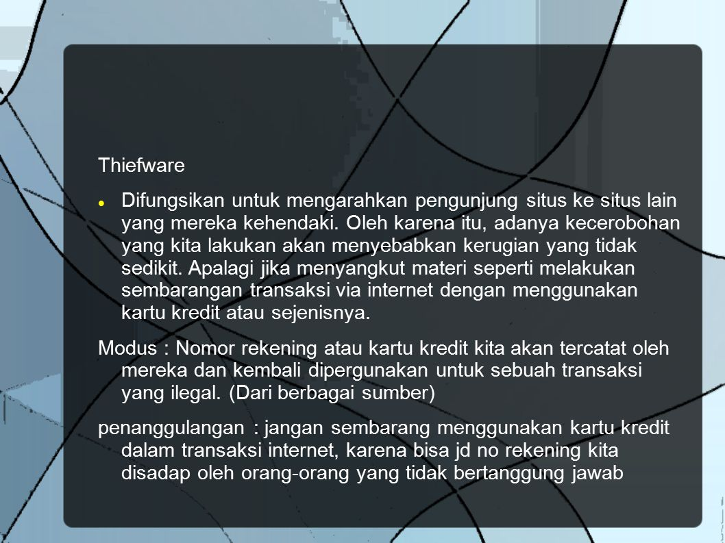 Thiefware