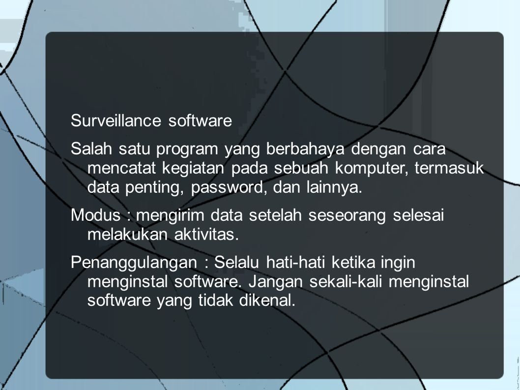 Surveillance software