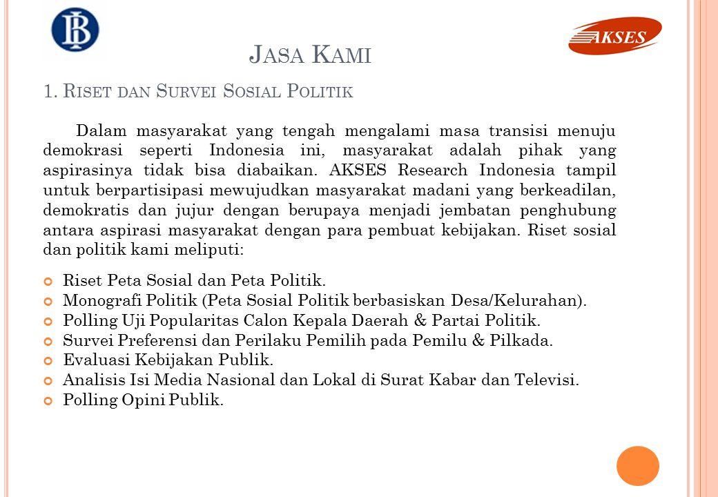 1. Riset dan Survei Sosial Politik