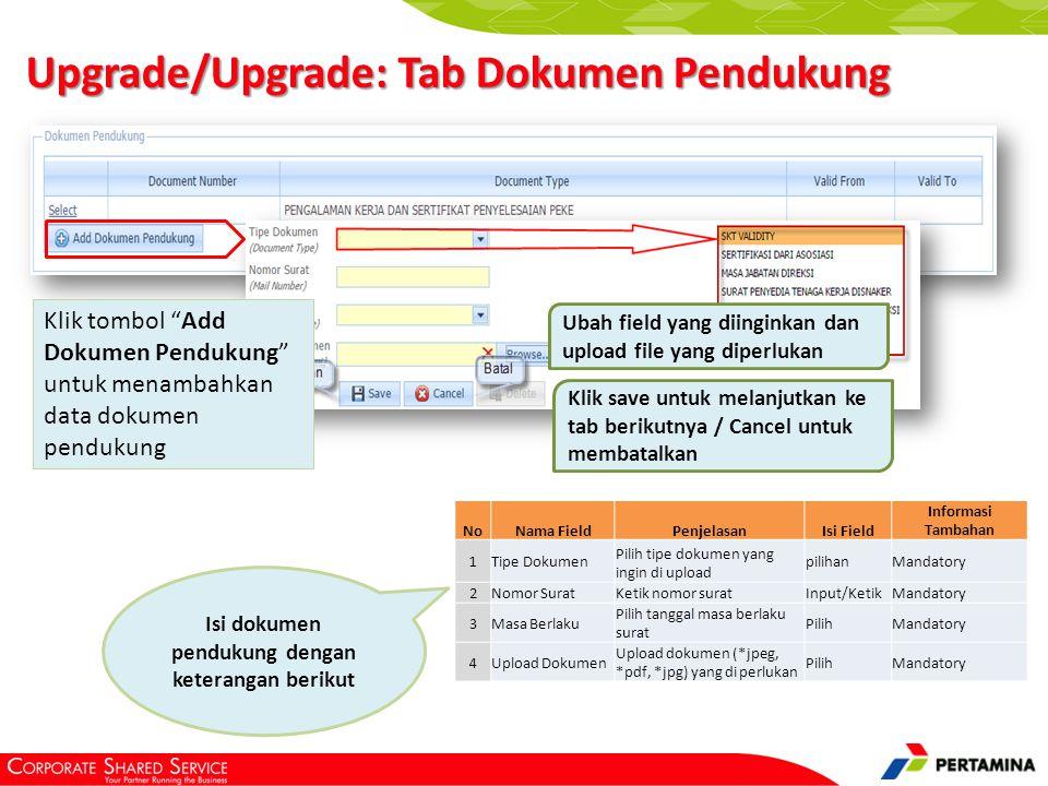 Upgrade/Upgrade: Tab Laporan Keuangan